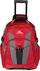 High Sierra XBT-Business Rolling Backpack, Carmine/Red Line/Black, One Size