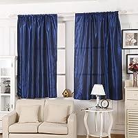 Niome Solid Window Curtain Living Room Bathroom Door Sheer Smooth Panel Drape Shade Half Light Covering 39 by 55 Inch
