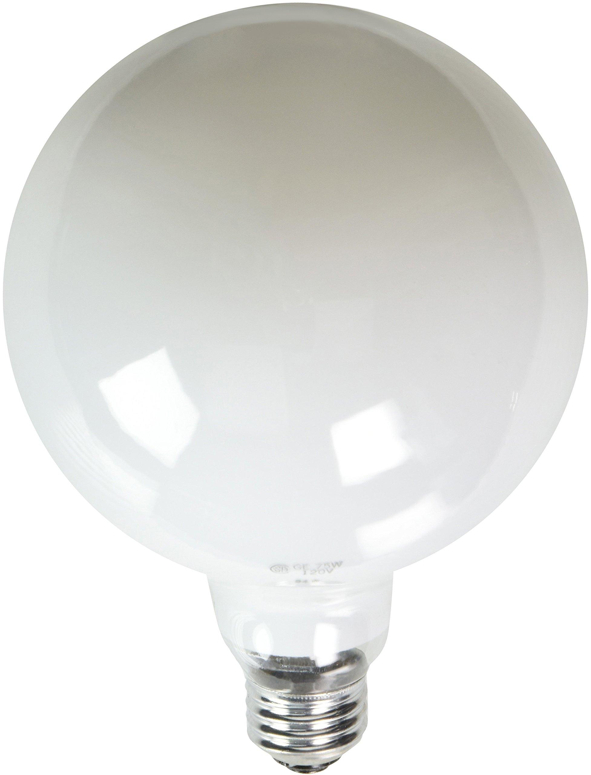 GE Lighting 36193 75-Watt G40 Globe Bulb Soft White Globe Light, 6-Pack