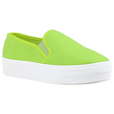 Japado Damen Schuhe Plateau Sneaker Slip-Ons Glitzer Metallic Sneakers Slipper Rosa Glitzer Weiss 39 svWoSsAmT