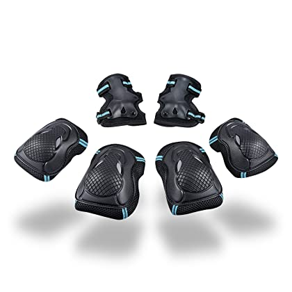 fc5e670fa9 SKL Multi Sport Protective Gear Knee Pads and Elbow Pads with Wrist Guards  Adjustable Safety Guards for Cycling