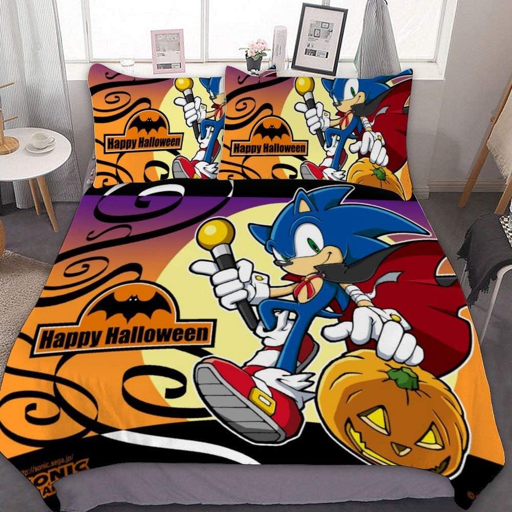 3D Sonic Mania Game Duvet Cover Bedding Set Pillowcase Duvet//Comforter Cover Set
