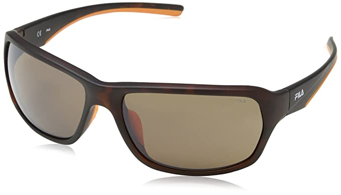 Fila SF9027, Gafas de Sol para Hombre, Gris (Azure Flower Pattern),