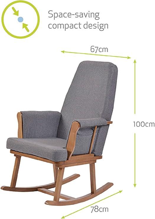 Kub® Haldon Nursing Rocking Chair (Dark) Padded Cushions