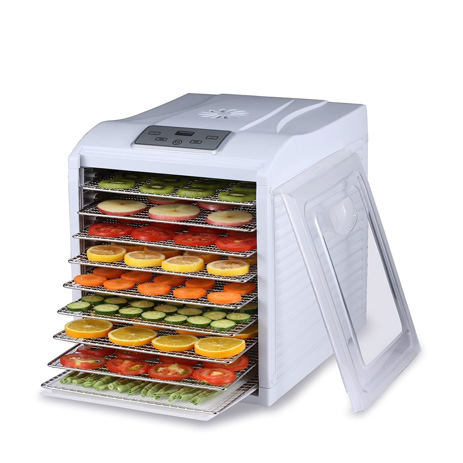 BioChef Arizona Sol 9 Tray Food Dehydrator with Digital Display, Stainless Steel Trays, 3 x Non Stick Tray, 3x Mesh Sheet & 1x Drip Tray (Black) Vitality 4 Life