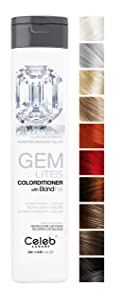 Celeb Luxury Gem Lites Colorditioner, Professional Color Depositing Conditioner, BondFix Bond Repair, Infuse Semi-Permanent Natural Color Tones, Color-Treated Hair Maintenance, Vegan