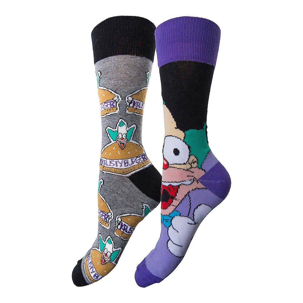 Simpsons Y1H305 Calcetines para Hombre de Krusty el Payaso, Talla 41 a 45, Lote de 2https://amzn.to/2KToyb4