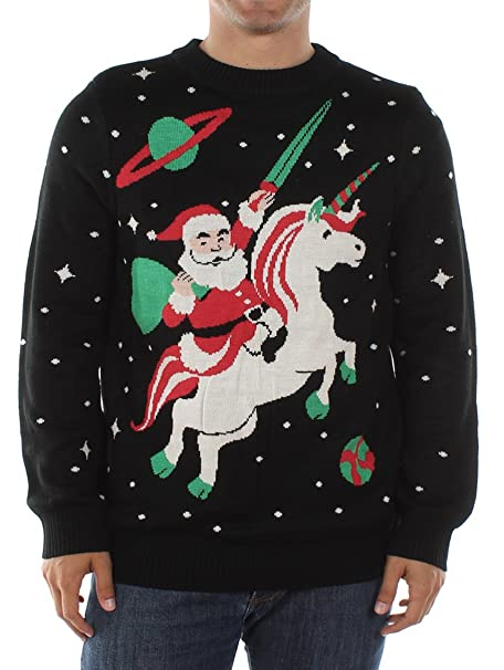Ugly Christmas Sweater Men.Men S Santa Unicorn Christmas Sweater Ugly Christmas Sweater For Men