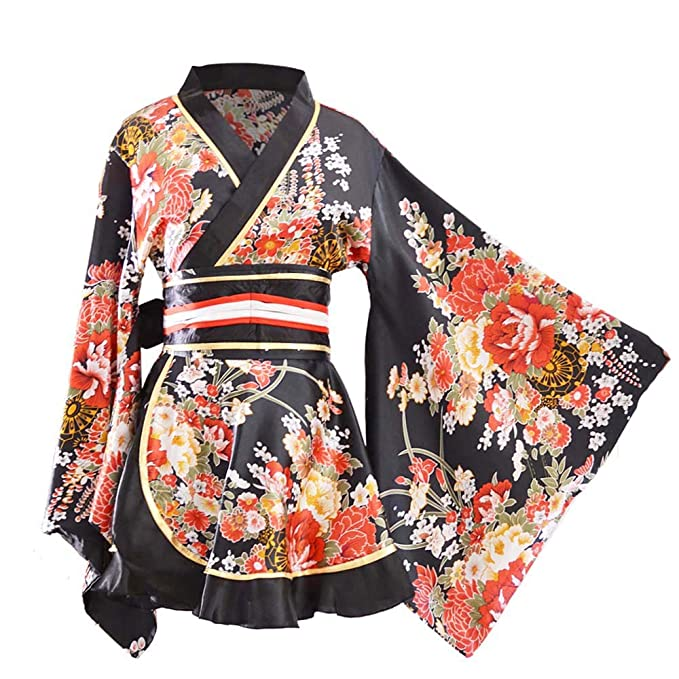 Amazon.com: Kimono traje de baño japonés tradicional Yukata ...