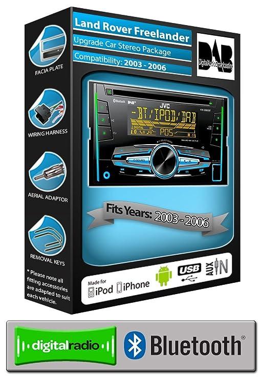 Land Rover Freelander DAB radio, JVC car stereo CD USB: Amazon.co.uk ...