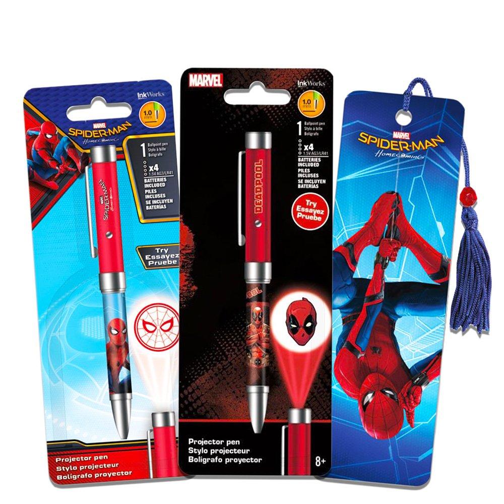 Marvel Deadpool - Juego de bolígrafos para proyector de Deadpool ...