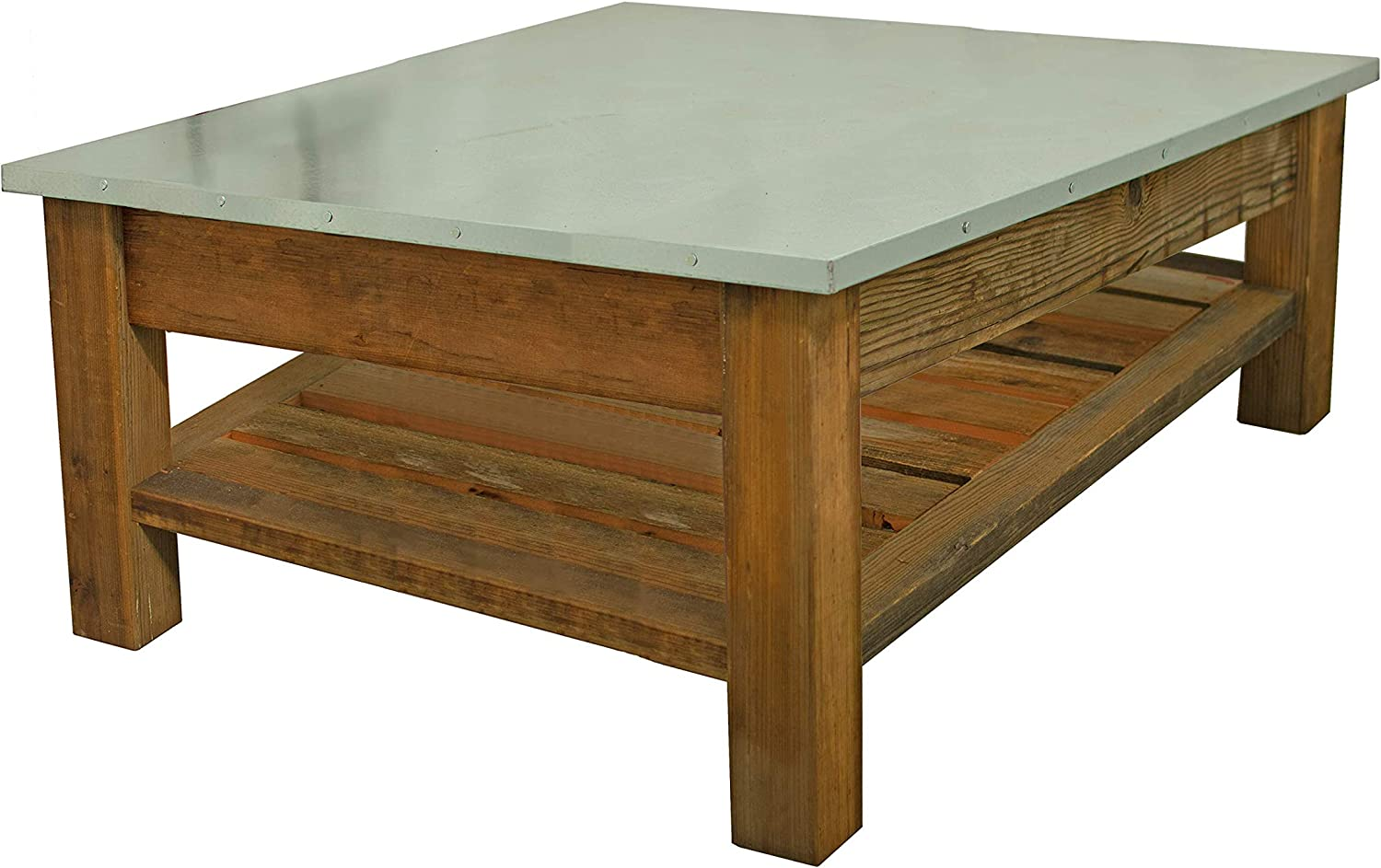 Redwood Patio Coffee Table Outdoor End Table Rustic Furniture (No Hardware)