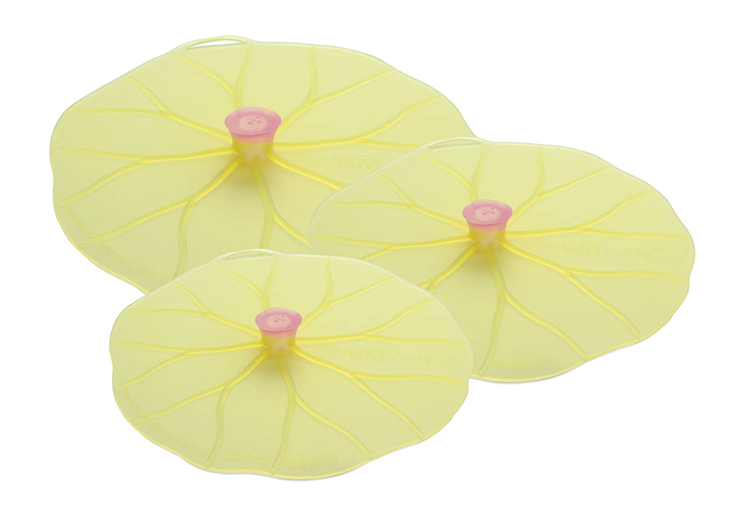 Charles Viancin Lilypad Lid Set of 3 - Large, Medium, Med/Small AGS10993