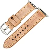 REZERO Bridle Leather Watch Strap Replacement for Apple Watch 44mm 40mm 42mm 38mm Series 4 3 2 1 iWatch Watchbands Compatible