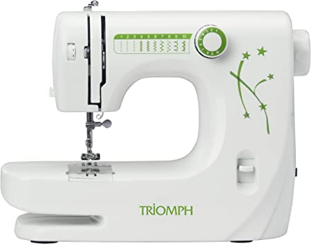 Opinión sobre Triomph ETF1527 máquina de Coser, 33,5 x 14,5 x 24 cm, Blanco/Verde