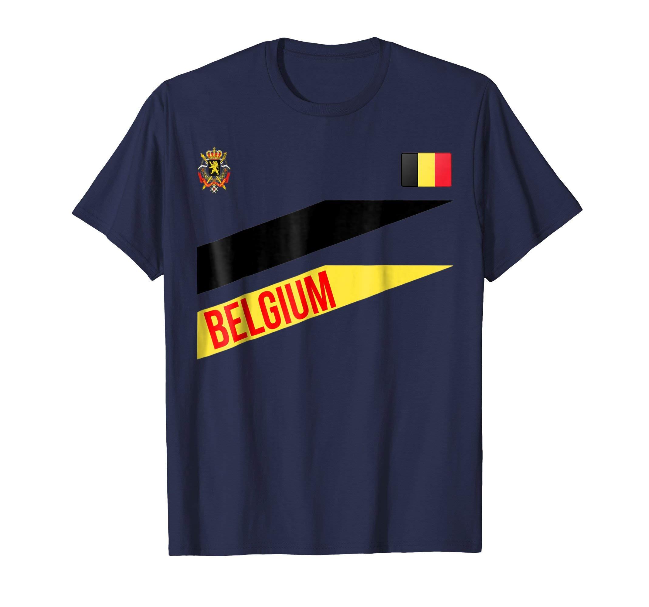Belgium Jersey Flag-Soccer-Travel-Football T Shirt