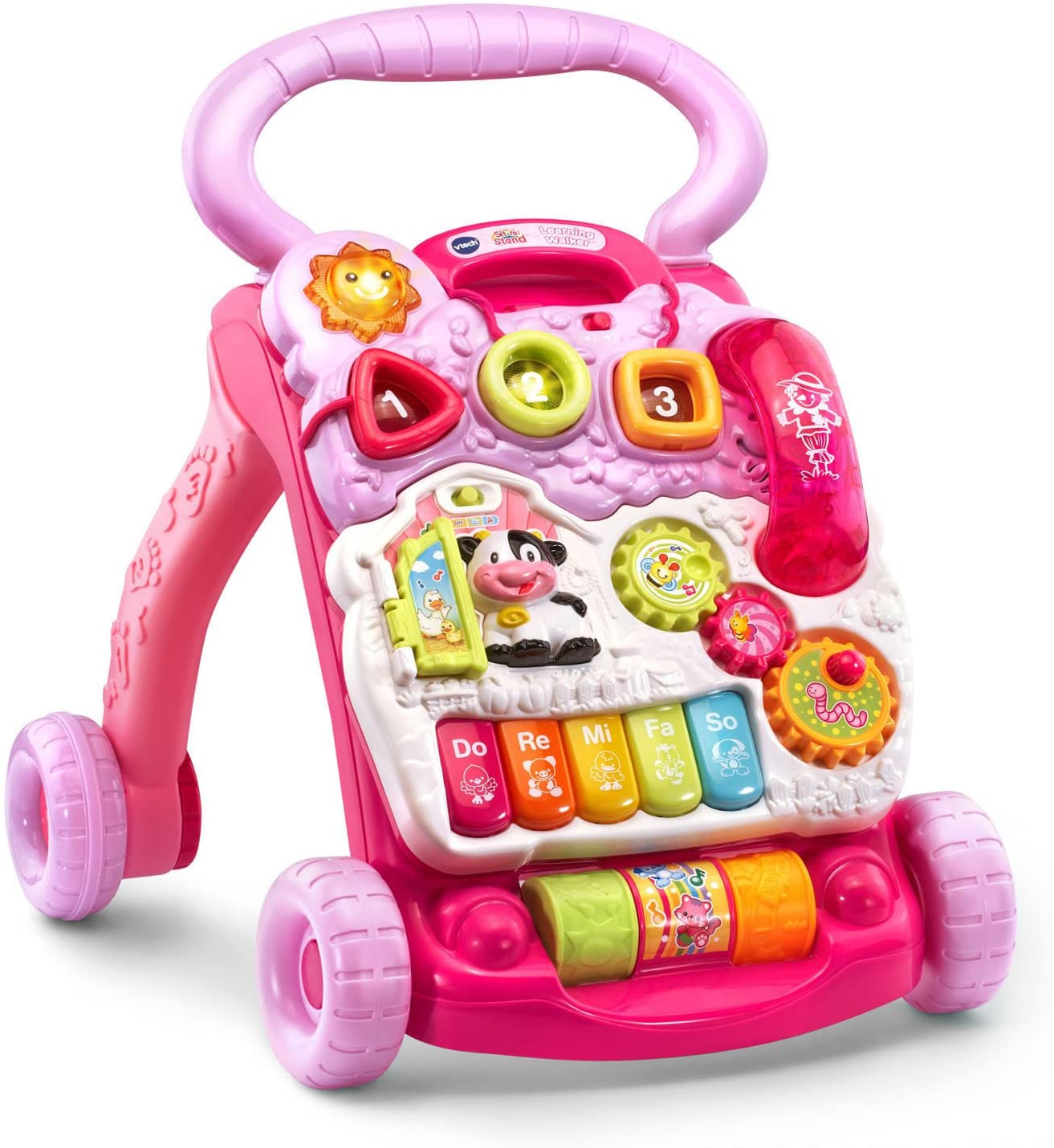 Amazon.com: Andador VTech Sit-to-Stand, rosa: Toys & Games