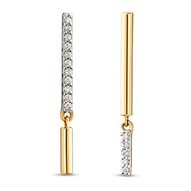 8163897ecf353 Buy Mia by Tanishq 14KT Yellow Gold and Diamond Drop Earrings for ...