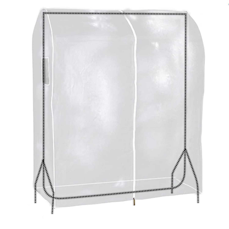HANGERWORLD Clear 3ft Showerproof Zip Clothes Rail Cover Hanging Garment Storage Display