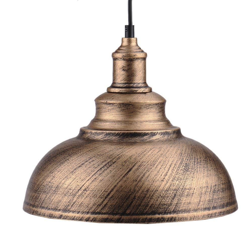 Bronce Hierro Negro DIY de la vendimia del techo de la lámpara pendiente de la bombilla Decoración del café del Bronce