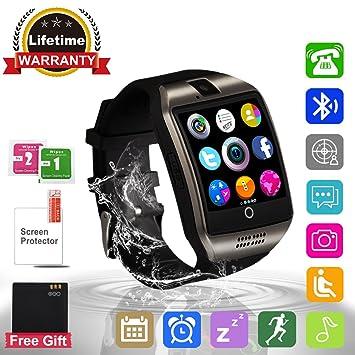 Adhope Reloj Inteligente Bluetooth Deportivo de Pulsera Soporte Facebook Twitter Táctil Alertas de Mensajes Smart Watch Android Teléfonos Inteligentes ...