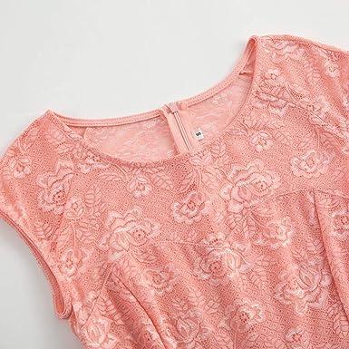 cinnamou damska letnia sukienka bez rękawÓw koronka szyfon splot duża sukienka wieczorowa sukienka bez rękawÓw vintage country spÓdnica koktajlowa z kwiatową koronką: Odzież