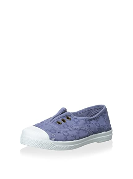 Natural World Zapatos DE Algodón con Encaje Fondo Caucho 120590 Lavanda: Amazon.es: Zapatos y complementos