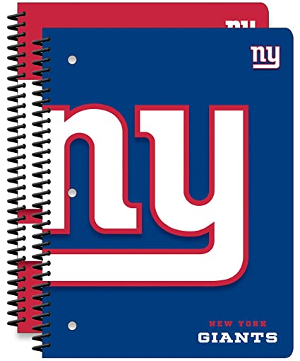 fd00c17a New York Giants NFL 1-Subject School Notebooks, 2 Pack, 70 Pages Each, 8