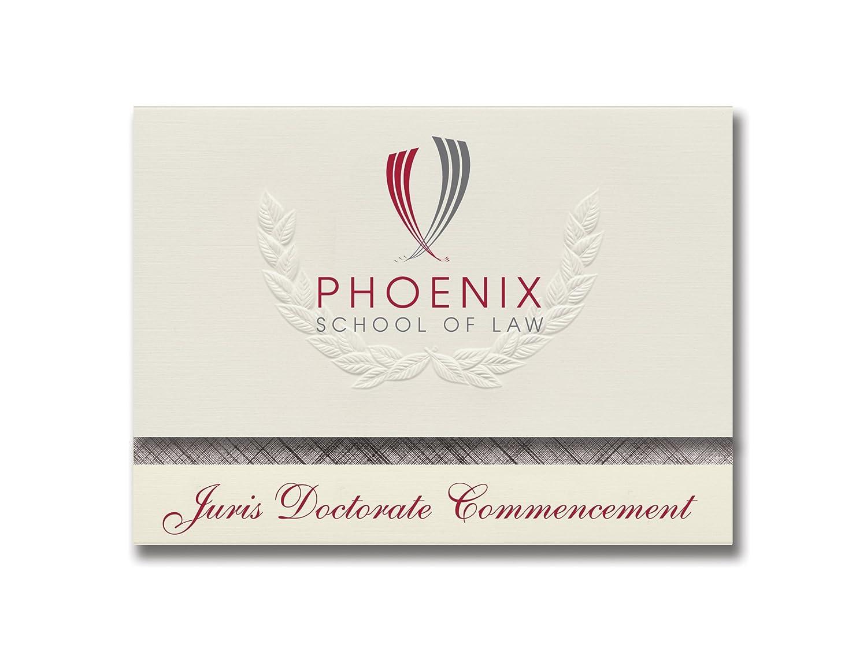 Signature Ankündigungen Phoenix Schule von Gesetz Abschluss Ankündigungen, platin Stil, Elite Pack 20 mit Phoenix School of Law Logo Folie B0793R67SM | Die Farbe ist sehr auffällig