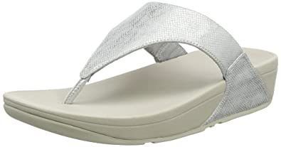 FitFlop Lulu Toe Thong Shimmer Print, Sandales Bout Ouvert Femme, Argenté (Silver Shimmer-Print 578), 37 EU