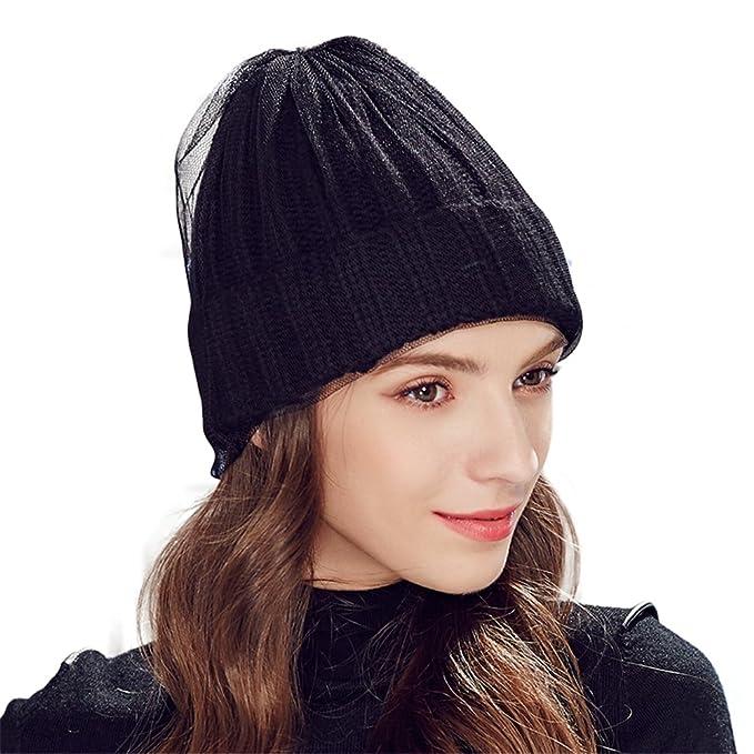 1baeb2ddba6 Kenmont Women Lady Female Winter Autumn Hand Knitted Hat Beanie Cap (Black)