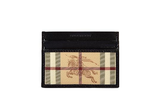 Burberry tarjetas de crédito hombres titular de piel cartera nuevo haymark negro: Amazon.es: Zapatos y complementos