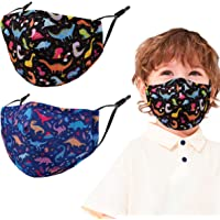 2 Pcs Kids Reusable Adjustable Face Mask. Gifts for Girls Boys