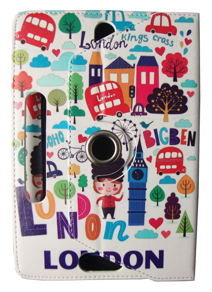 by Sweet Tech 9-10 inch Logicom M Bot Tab 101 Tablet PC 10.1 Tablet Sailing Boat Universal 360 Degree Rotating PU Leather Wallet Case Cover Folio