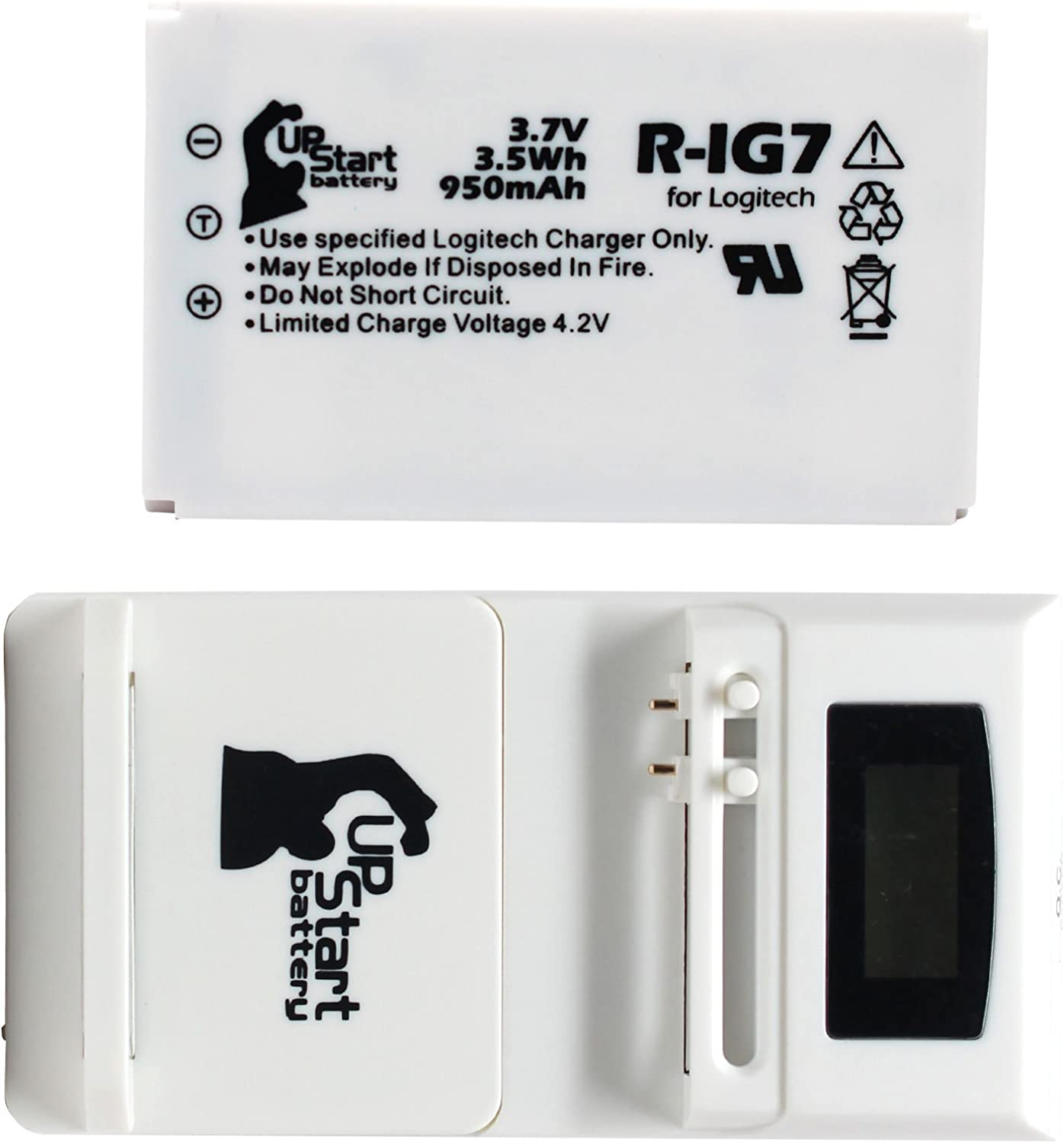950mAh 3.7V Li-ion Logitech Harmony One Battery Replacement for ...
