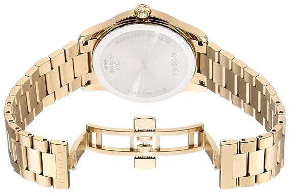 Amazon.com: Gucci Swiss Quartz and Alloy Dress Gold-Toned Mens Watch(Model: YA126461): Watches