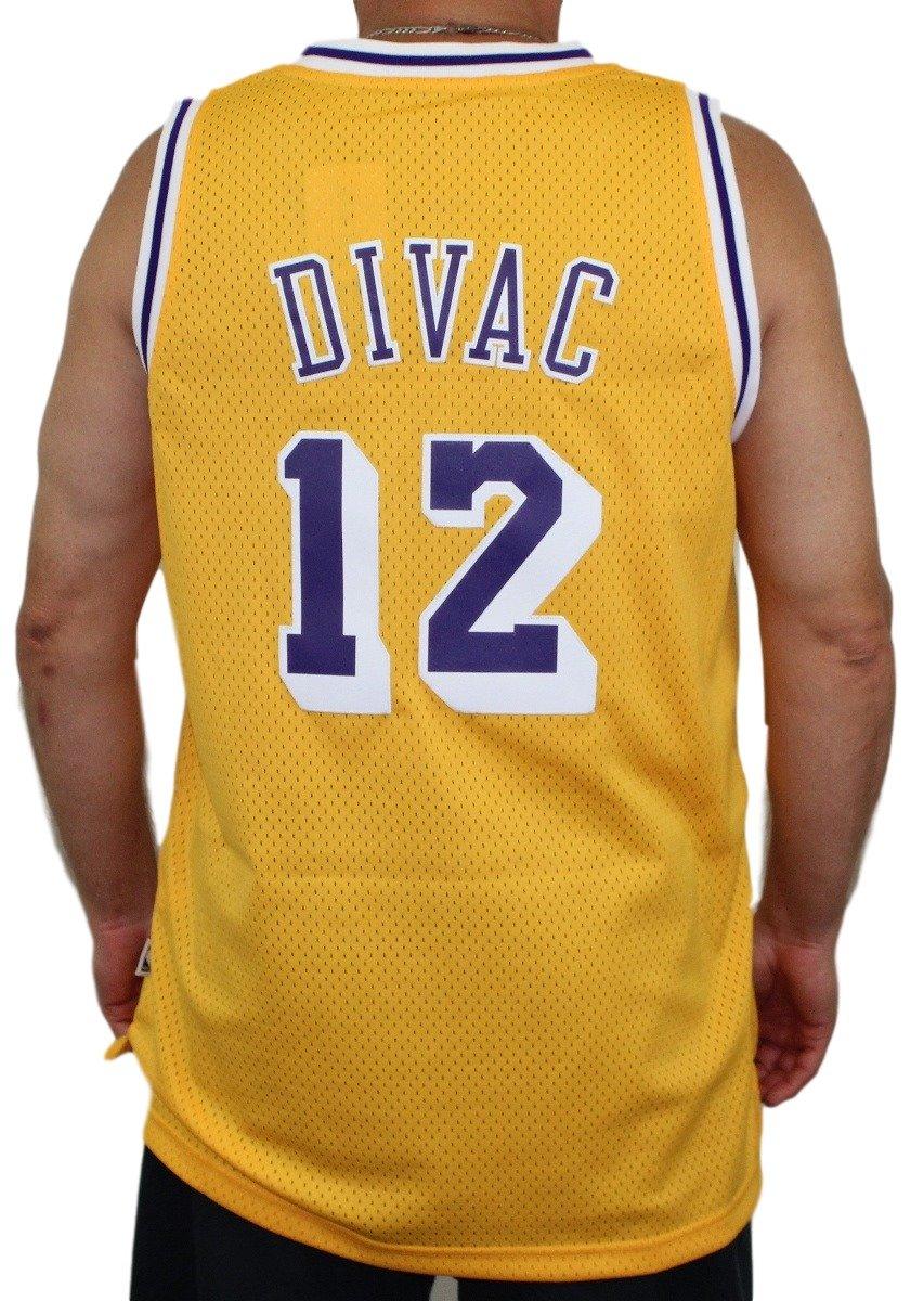 adeb061af82d Amazon.com   adidas Vlade Divac Los Angeles Lakers NBA Throwback Swingman  Jersey - Gold   Sports   Outdoors
