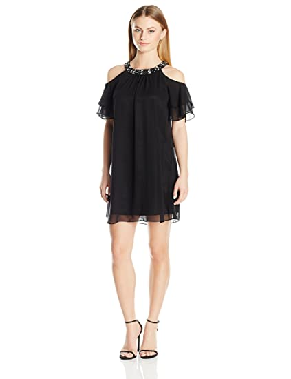 Jessica Howard Womens Petite Cold Shoulder Dress At Amazon Womens