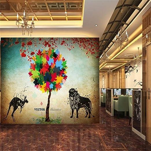 YBHNB Mural de Arte Abstracto 3D, Foto Fondo de Pantalla Hojas ...