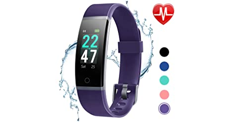Letscom Waterproof Color Screen Fitness Tracker Watch only $12.00