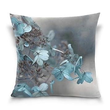 Amazon.com: Ye Store Azul Hortensia 100% algodón manta funda ...