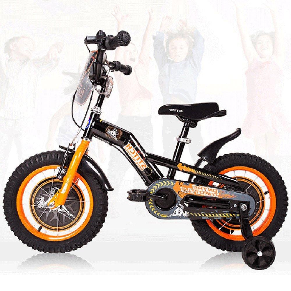 PJ 自転車 子供用自転車、アンチスキッドショックアブソーバー屋外自転車品質ブレーキシステム子供用自転車子供用自転車 子供と幼児に適しています ( 色 : ブラック , サイズ さいず : 12Inch ) B07CQV1VRQ 12Inch|ブラック ブラック 12Inch