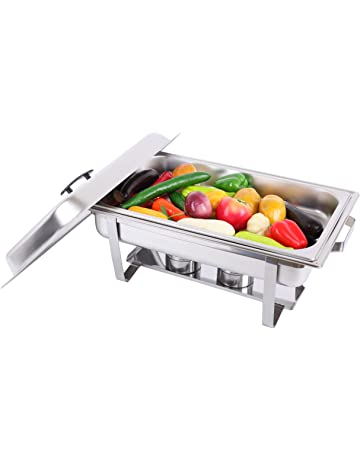 TryESeller Chafing Dish Acero Inoxidable Calentador de Comida Servidor Buffet 9L