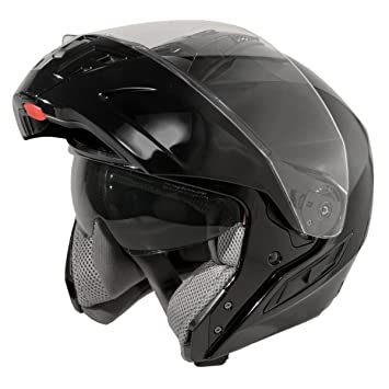 Hawk ST 11121 8GB FX Glossy Black Modular Helmet - Large