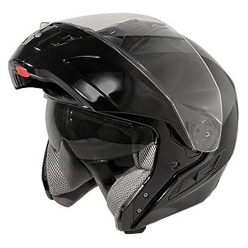Hawk ST 11121 8GB FX Glossy Black Modular Helmet - Large