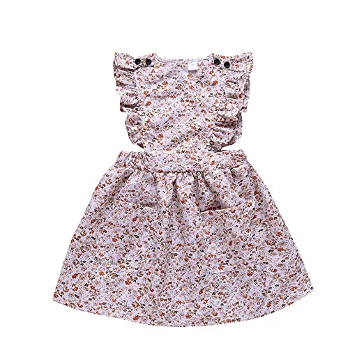 90cdbdef04444 Amazon.com: 2019 New! Flower Girls Dress, Toddler Baby Floral ...