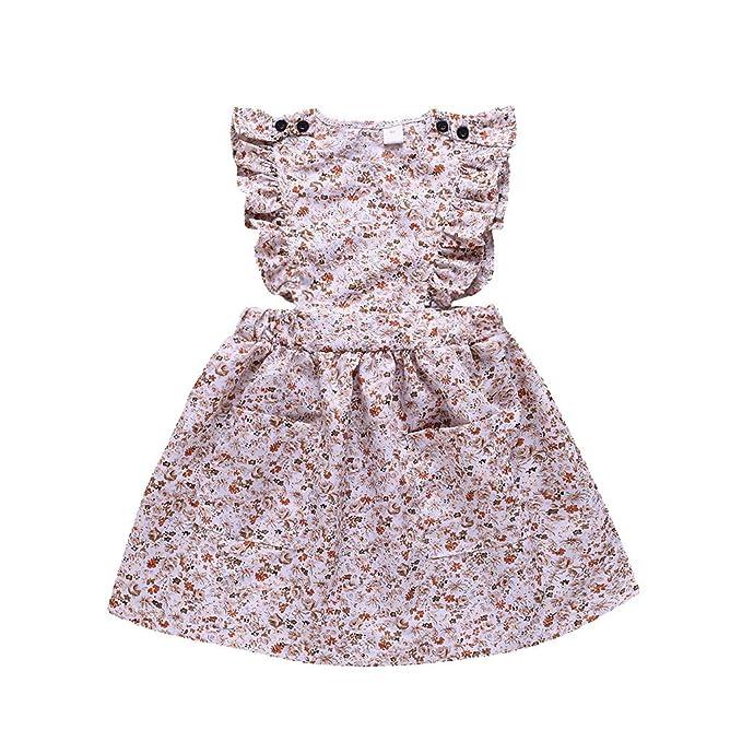 01f0af9d9f785 Little Girl Summer Dress,Sales! Jchen Baby Kids Girls Sleeveless Floral  Print Ruffle Party