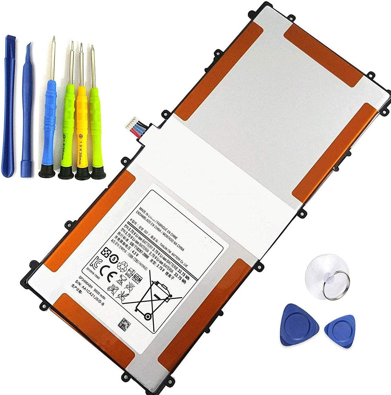 Bateria (3.75V 33.75Wh 9000mAh) paraSamsung Google Nexus 10