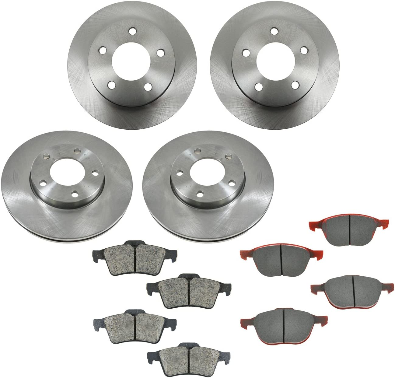 Front And Rear Brake Rotors /& Ceramic Pads For 2014 2015 2016 Mazda 3-2.0L