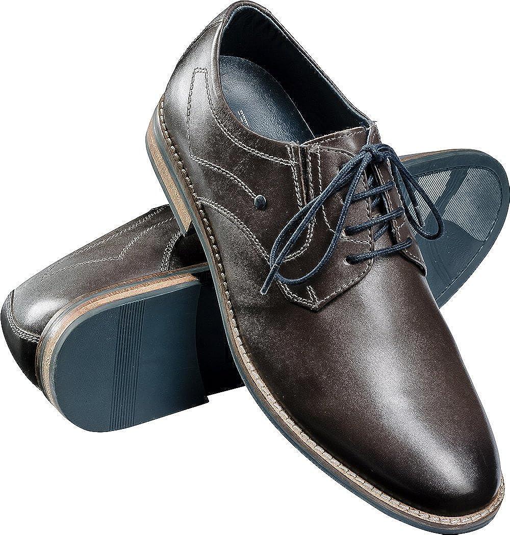 Ross & Cole Herren Business-Schuhe in Grau, Grau, Grau, Elegante Anzugschuhe für Männer, Schnür-Halbschuhe Aus Weichem Leder im Klassischen Derby-Stil, Größe  40-46 665bfb
